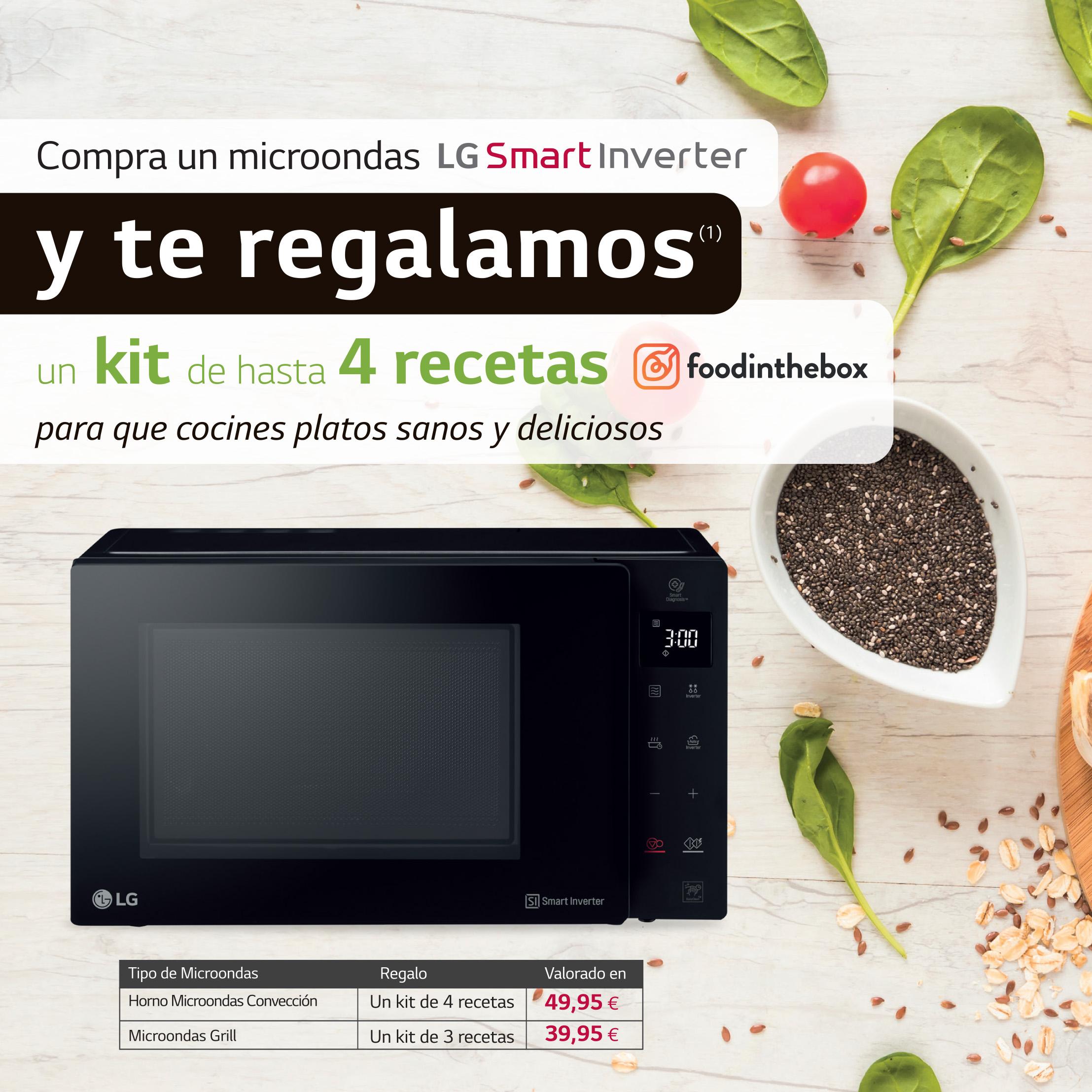 Promoción microondas LG