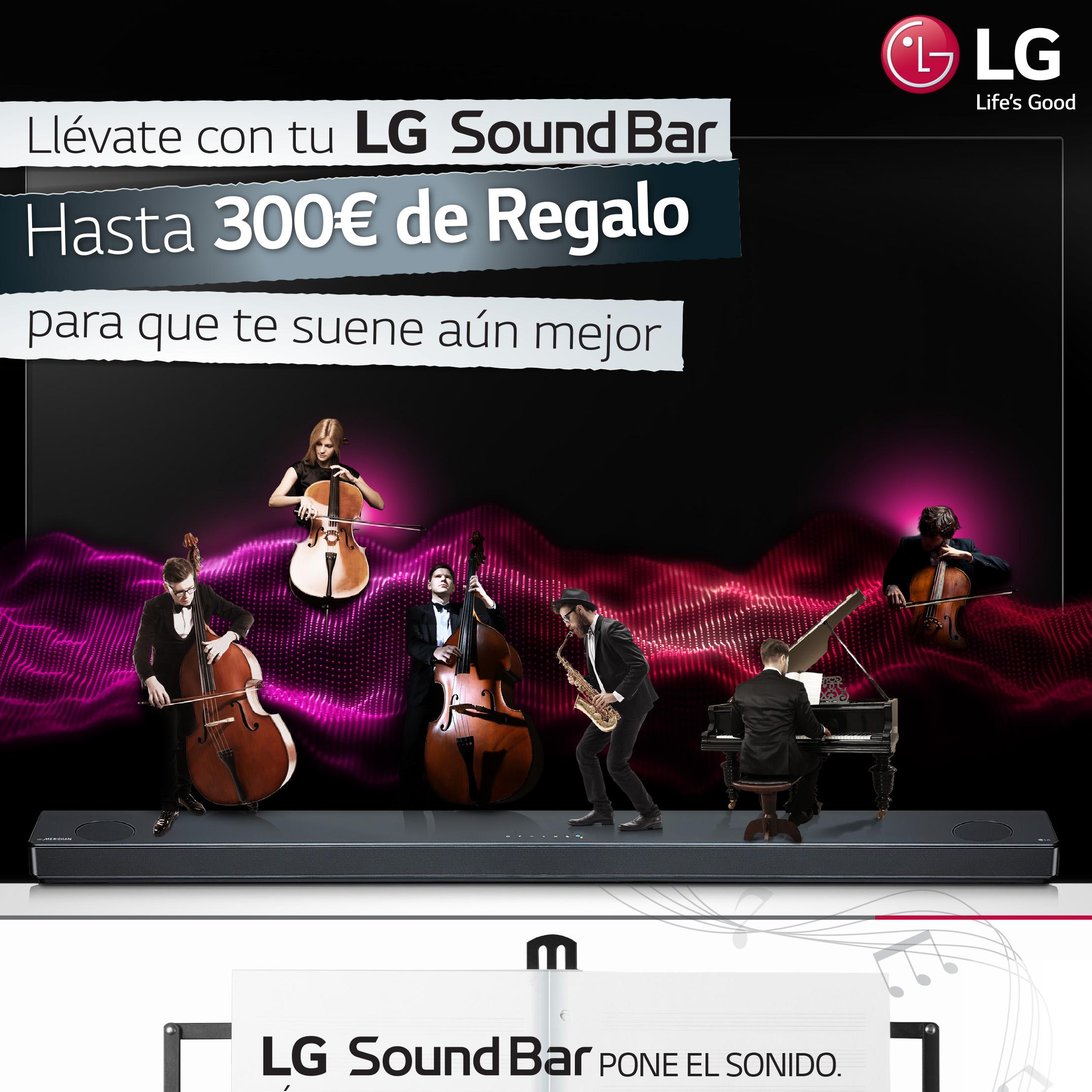 Promoción Barra de sonido LG